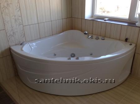 Установка угловой ванны своими руками видео